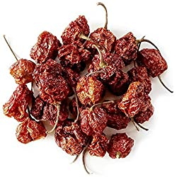 Monsoon Spice Company Carolina Reapers Dry Whole Pepper Pods Hottest Peppers in the World   Free First Class Shipping in USA  
