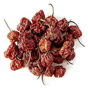 Monsoon Spice Company Carolina Reapers Dry Whole Pepper Pods Hottest Peppers in the World | Free First Class Shipping in USA |