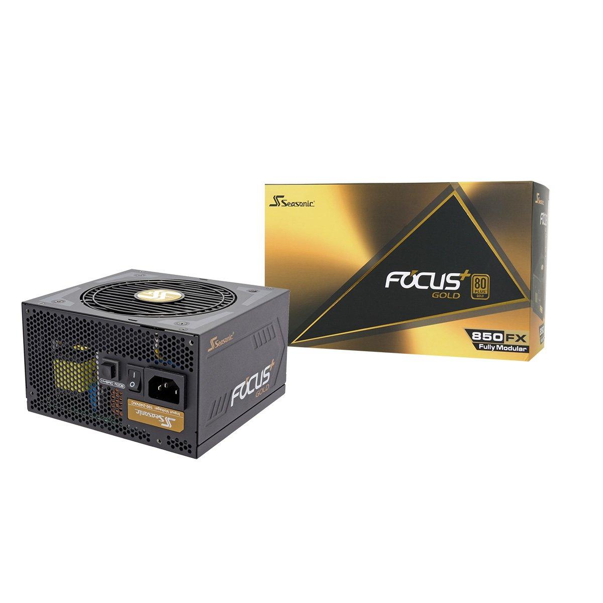Seasonic FOCUS Plus Series SSR-850FX 850W 80+ Gold ATX12V & EPS12V Full Modular 120mm FDB Fan Compact 140 mm Size Power Supply by Seasonic
