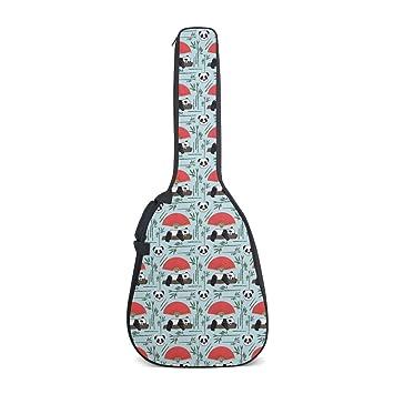 Bolsa para guitarra Panda Art, estilo chino, con correa para el ...