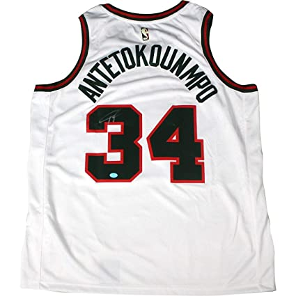 huge selection of 8d269 3fcad Giannis Antetokounmpo Autographed Signed Milwaukee Bucks ...