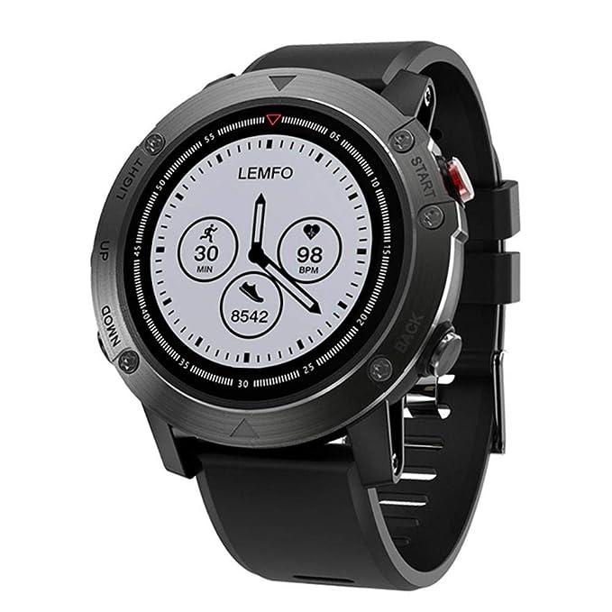 H-sunshy LEMFO LES3 GPS Smart Watch IP68 Impermeable Ritmo ...