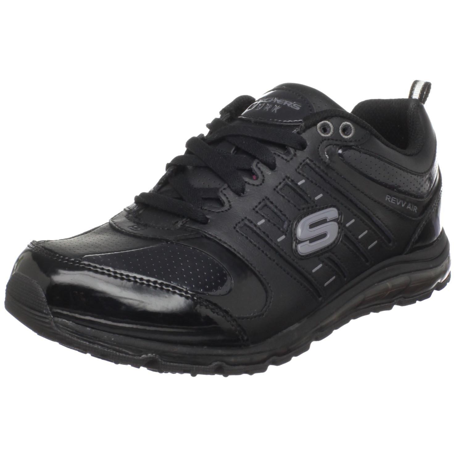 Skechers fAtilde;frac14;r Arbeit 51191 Air-revvolution Sneaker  US 6.5|UK 3.5|EU 36.5|Black
