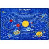 Mybecca Kids Area Rug Solar System 3'' X 5'' Children Area Playroom & Nursery Non Skid Gel Backing