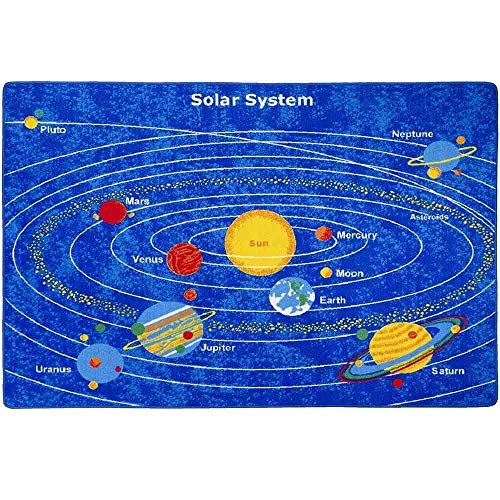 - Kids Rug Solar System Children's Area Rug - Non Skid Gel Backing (5' x 7')