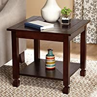 Zenith End Table, Espresso, Material: Wood