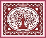 Good Value Cross Stitch Kits Beginners Kids Advanced -The Oval Happiness Tree 11 CT 14