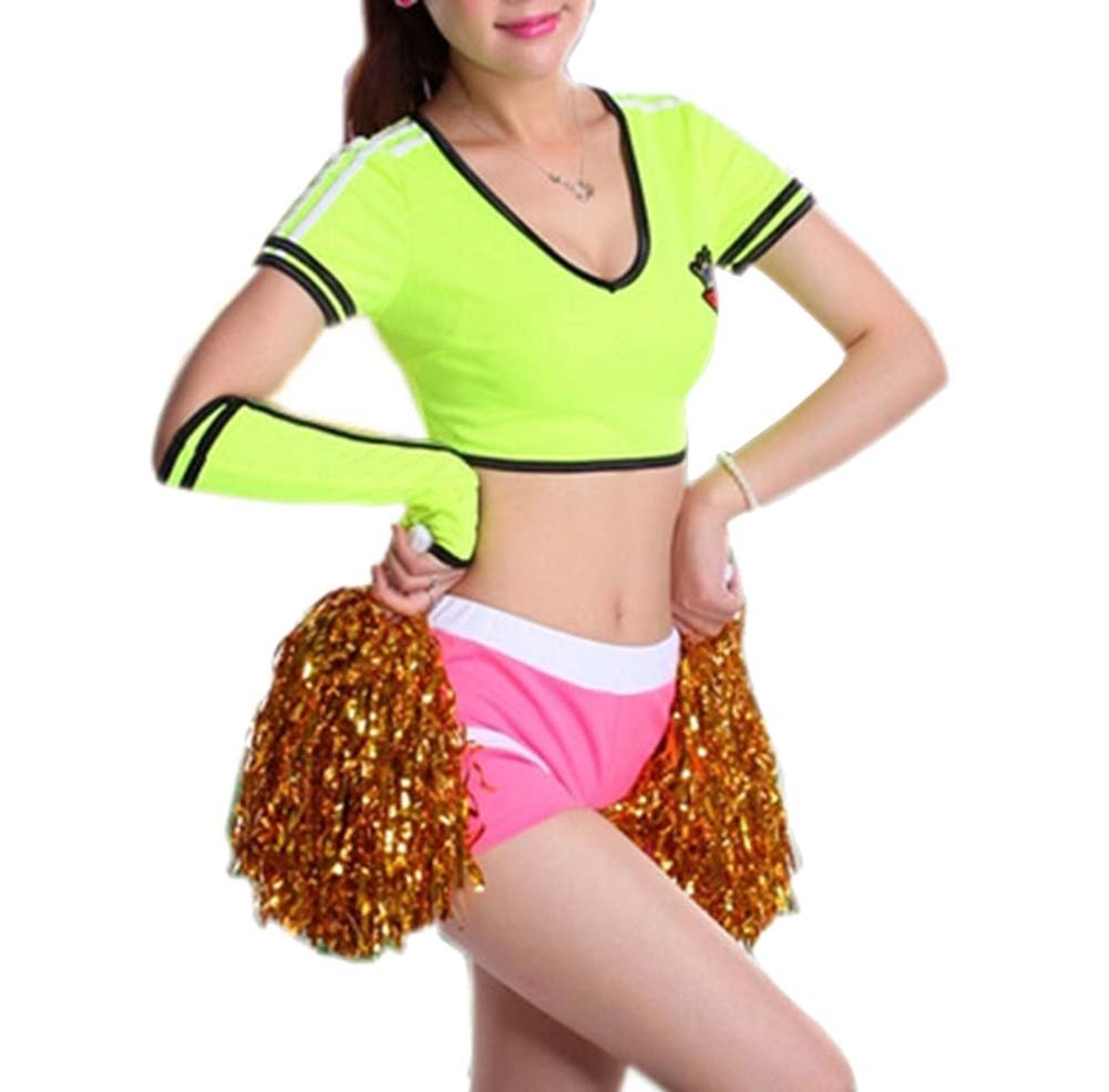 Yellow Color Cheerleader Outfit for Soccer - Size L PANDA SUPERSTORE PS-SPO2515113011-YOUNG00407