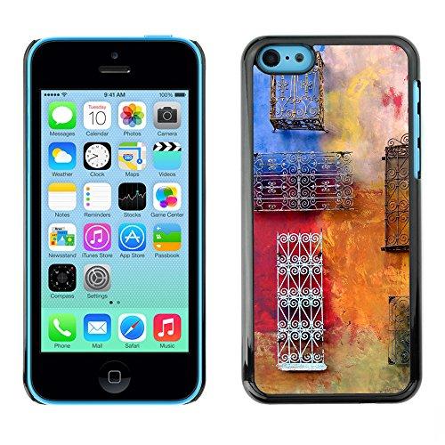 Premio Sottile Slim Cassa Custodia Case Cover Shell // V00001957 Colorful mur // Apple iPhone 5C