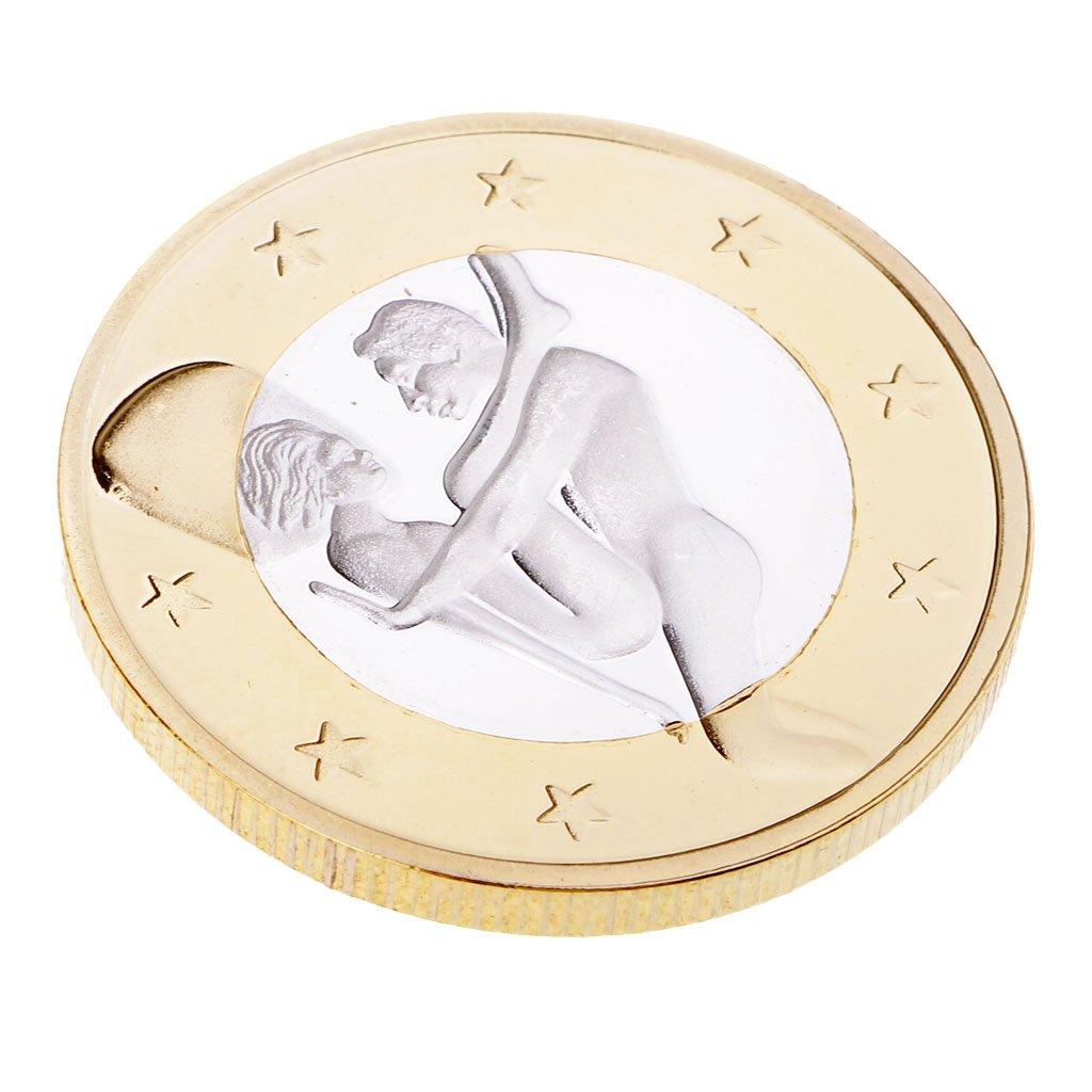 MagiDeal 1 Stück Münze mit Kunststoffgehäuse Sammlermünzen Gedenkmünzen Für Erwachsene - Gold und Silber # 1
