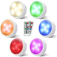 Puck Lights with Remote, OxyLED Wireless Color Changing LED Cabinet Lights with Timing, Battery Powered Tap Lights…