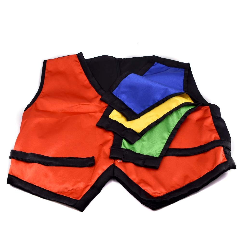 Color Changing Vest Waistcoat (Medium Size) 4 Color Magic Tricks Magician Stage Close-up Illusions Accessories Mentalism Fun by SUMAG