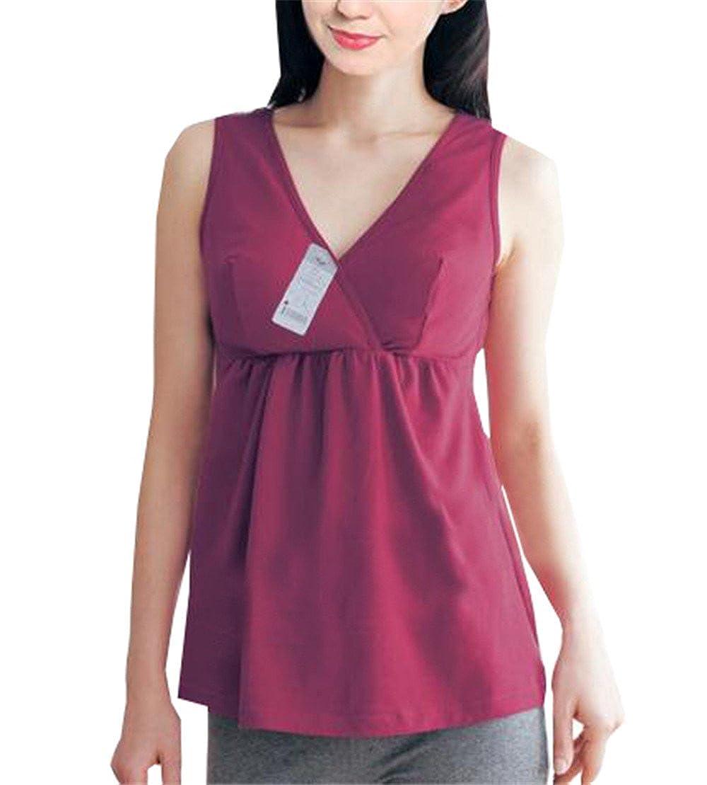 AILIENT Tanks Women Maternity Nursing Tops T Shirt Pregnant Airy Camis
