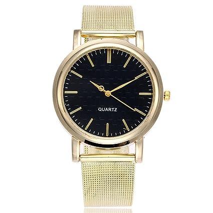 Reloj de Mujer Reloj para Hombres Moda Casual Negocio Deporte Cuarzo Banda de Acero Inoxidable Mármol