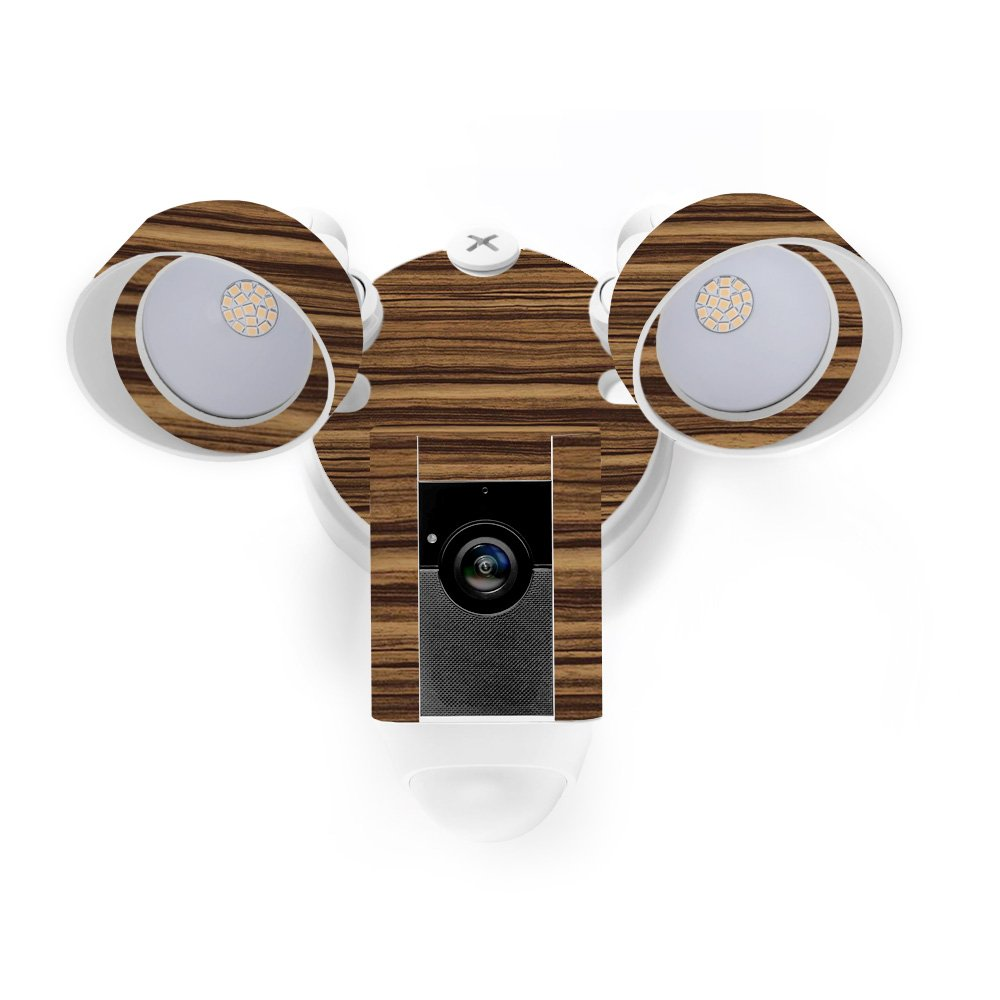 MightySkins Skin for Ring Floodlight Cam - Dark Zebra Wood Protective, Durable, and Unique Vinyl Decal wrap Cover | Easy to Apply, Remove, and Change Styles | Made in The USA