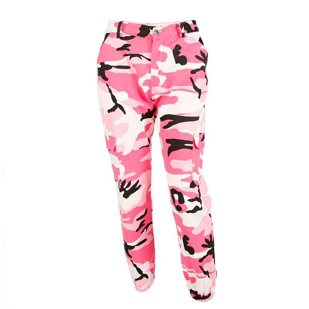 Women Sports Camo Cargo Pants Harem Outdoor Casual Camouflage Trousers Fashion Boyfriend Jeans