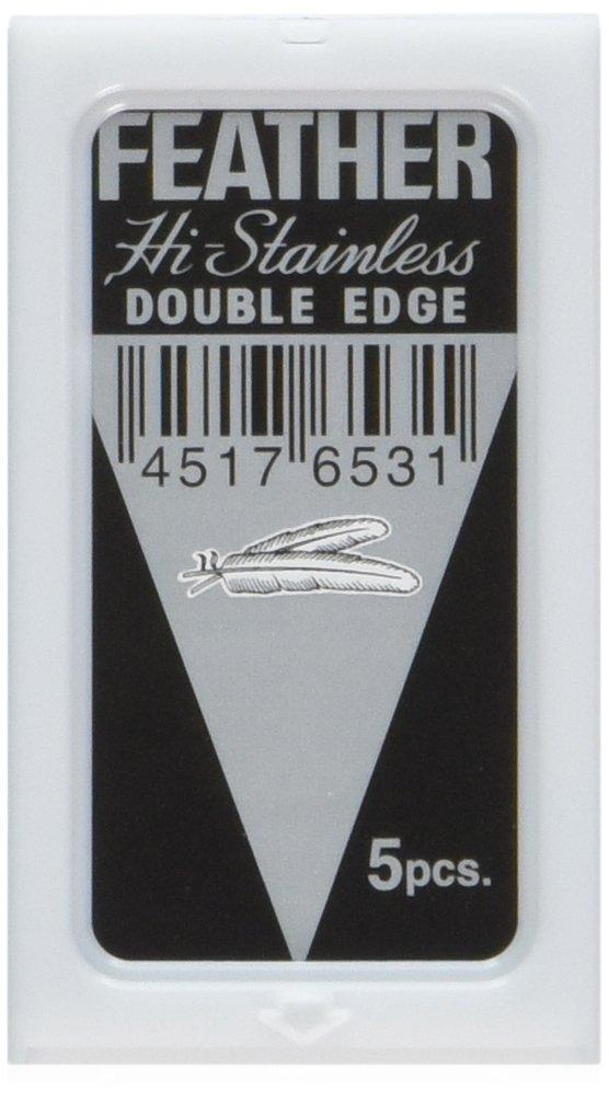 20 Feather Razor Blades NEW Hi-stainless Double Edge