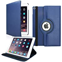 Nv 360 Degree Rotating Flip Case Cover for Apple iPad Air 2 Model. A1566, A1567 (Blue)