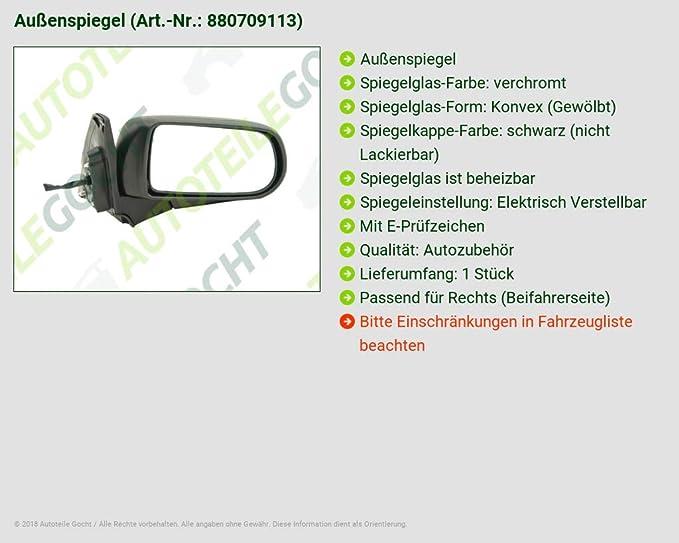 Pour ad0177313 Rétroviseur Extérieur Grand Droit Convexe éléments heizb