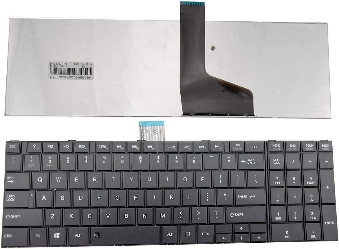 E-ZeeGaa Replacement Keyboard for Toshiba Satellite C850 C850D C855 C855D C870 C870D C875 C875D Series US Layout AER15U00310 V150924AS1