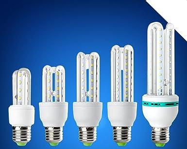 NIKU-bombilla LED E27 U Tipo protección ambiental y Lámpara de ahorro de energía 3W