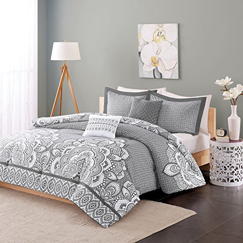 - Intelligent Design ID12-388 Isabella Duvet Cover Set Twin XL Grey, Twin/Twin X-Large,