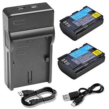 2 X LP-E6 LP-E6 N batería + rápido Doble USB Cargador para Canon EOS