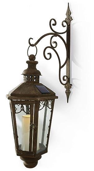 Pureday Lampe Solaire Applique Murale Style Ancien Lanterne avec ...