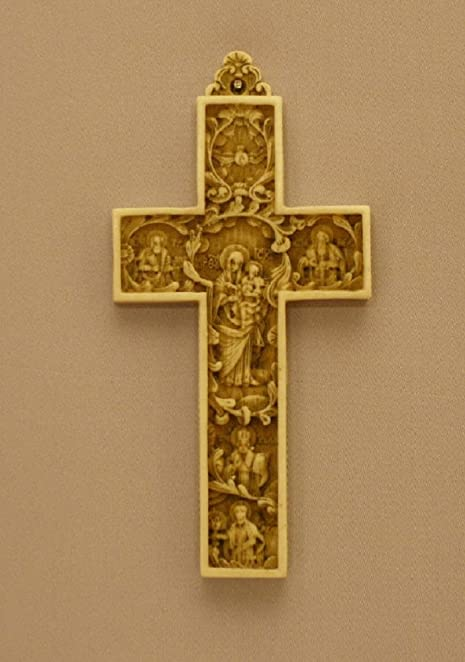 Amazon Byzantine Cross With Madonna And Child In The Center God