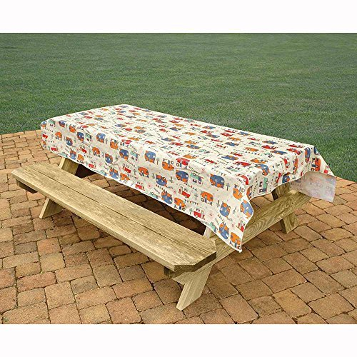 Bowery Direcsource Ltd Camping Tablecloth, Camping Trails by Bowery