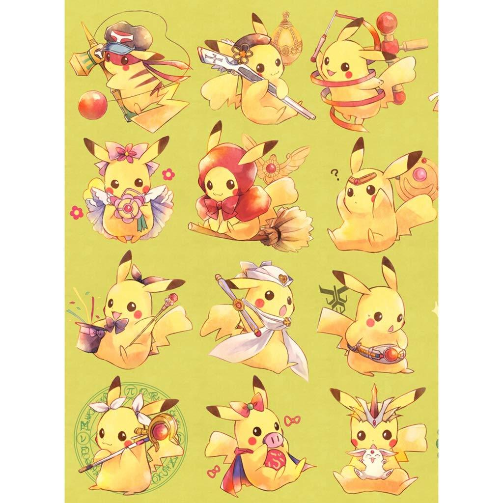 Color : A, Dimensione : 300pcs 300//500//1000//1500 Pezzi YC-PUZZLE Anime Cartoon Pokemon Pokemon Pikachu Puzzle in Legno