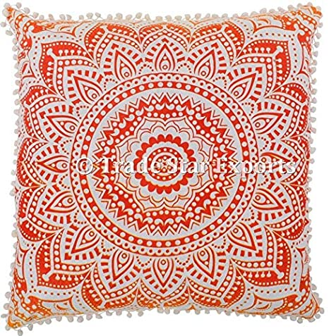 Funda de cojín de piso Mandala, funda de almohada de algodón ...