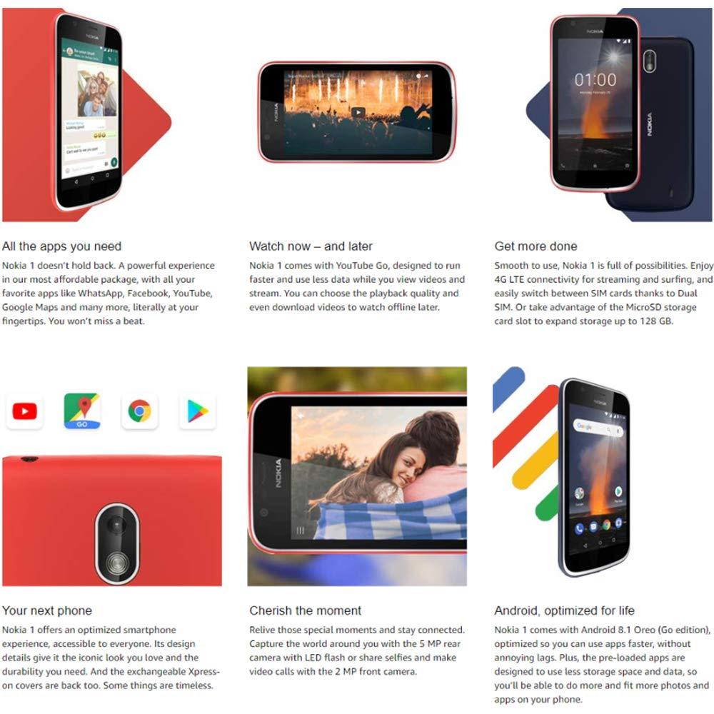 Nokia 1 - Android One (Go Edition) - 8 GB - Dual SIM LTE Unlocked