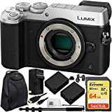 Panasonic Lumix DMC-GX8 Mirrorless Micro Four Thirds Digital Camera (Body, Silver) - International Version with No Warranty 10PC Bundle