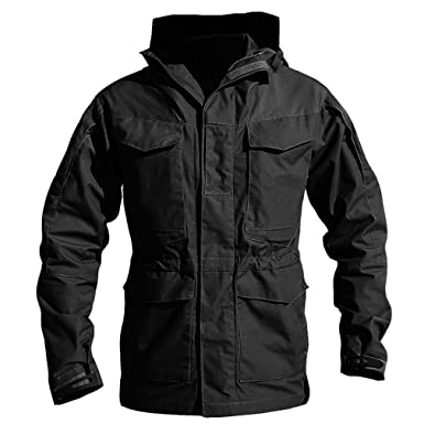 62f5149a37d8b Amazon.com: Zichhing Army Clothes Casual Tactical Windbreaker Men Winter  Autumn Waterproof Flight Pilot Coat Hoodie Military Field Jacket: Clothing