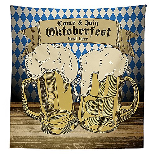 Alice In Wonderland Knight Costume (Oktoberfest Decorations Tablecloth Oktoberfest Design Famous Costume Tourist Attraction Travel Destination Dining Room Kitchen Rectangular Table Cover Blue Beige)