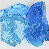 My Fireplace Glass - 10 Pound Fire Glass with Fire Pit Glass - Small, 1/4 - 1/2 Inch, Crystal Turquoise