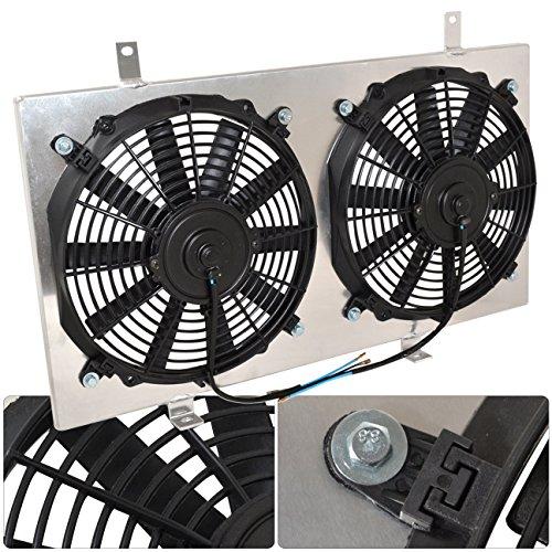 For Nissan 350Z Inifiniti G35 Manual MT Transmission Aluminum Radiator Fan Shroud Kit
