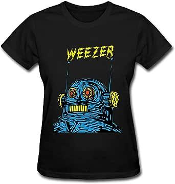 Duanfu Weezer Women's Cotton Short Sleeve T-Shirt