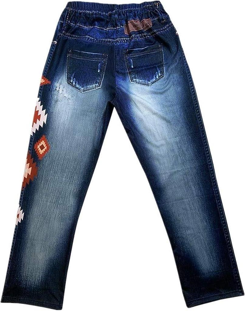 Fashion Women Skinny Floral Applique Jeans High Waist Stretch Pencil Pants