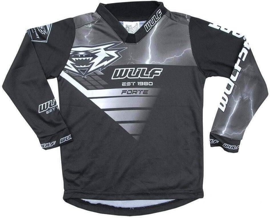 Wulfsport Kids Motocross Clothing Forte 2020 Junior MX Jersey Quad Pit Motorbike Racing Off-Road Top BMX Trials Child Dirt Bike Sports Enduro Shirts