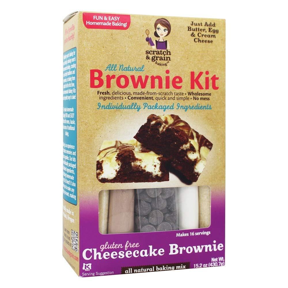 Scratch & Grain All Natural Gluten Free Cheesecake Brownie Kit - 15.2 oz by Scratch & Grain