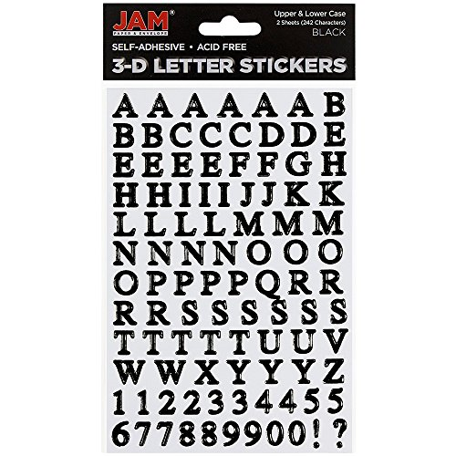 JAM PAPER Self Adhesive Alphabet Letter Stickers -