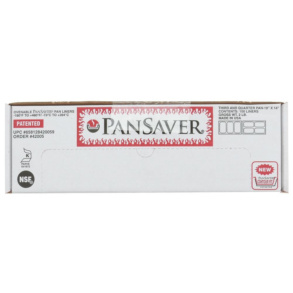 PanSaver Monolyn 1/3 Size Steam Table Pan Liner Clear Plastic - 4''-6''D 100 Per Case by M & Q PACKAGING LLC