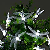 Icicle Solar String Lights, 16ft 20 LED 8 Modes