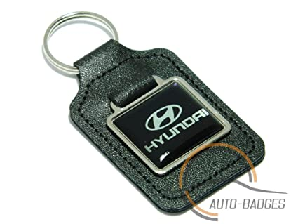 Auto-badges - Llavero de piel con logotipo de Hyundai, color ...