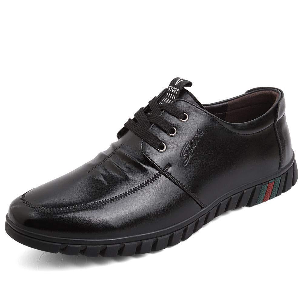 Oudan 2018 Oxfords Schuhe Schuhe Schuhe der Männer, Runde Zehe-Flache Ferse Breathable schnüren Sich Oben Geschäfts-Freizeit-Schuhe (Farbe   Braun, Größe   43 EU) (Farbe   Schwarz, Größe   43 EU) 1219f6