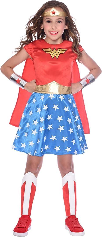 Disfraz de niña Wonder Woman Maravilla clásica para niñas (Edad: 4 ...