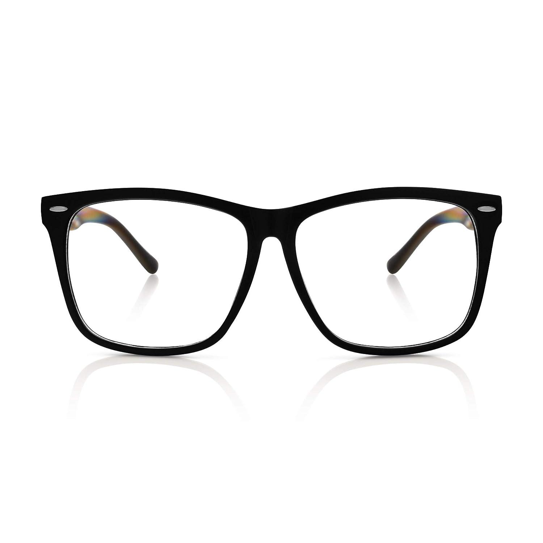 d8051f5c1ff5d Amazon.com  5zero1 Fake Glasses Big Frame Nerd Party Men Women Fashion  Classic Retro Eyeglasses