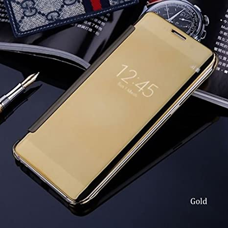 big sale e55c0 ce97f ITbEST Mirror Smart Clear View Flip Case Cover For: Amazon.in ...